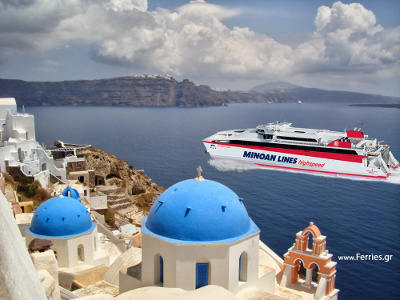 One Day Tour to Santorini from Heraklion - HighSpeed